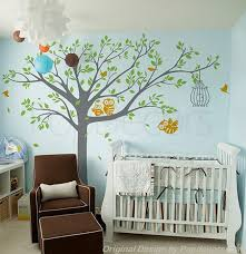 Wall Tree Decals For Nursery Nursery Tree Wall Decals Owls Wall Stickers Baby Wall Decal