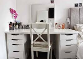 Bedroom Makeup Vanity With Lights Bathroom Makeup Vanities For Exciting And Bedroom Throughout
