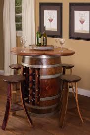 wine barrel dining room table 6388