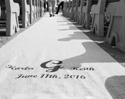 Burlap Wedding Aisle Runner 15 30 Ft Custom Burlap Wedding Aisle Runner With Initials