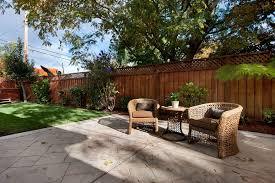 Backyard Fences Ideas Backyard Fence Ideas Landscape Modern With Pots Metal Planter Boxes
