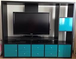 Meuble Tv Ikea Wenge by Ikea Lappland Wohnwand Schwarzbraun Fernseh Schrank Super