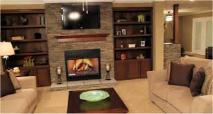 fireplace bookshelves living room champion manufactured home