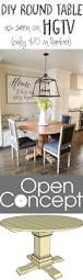 diy round table as seen on hgtv open concept wall decor love build this round table as seen on hgtv open concept for only 70 in lumber