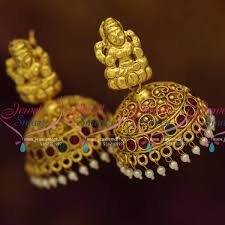 jhumka earrings online j7877 south indian ethnic jewellery collections temple jhumka