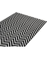 Black And White Zig Zag Rug Chevron Jute Knotted White Area Rugs Bhg Com Shop