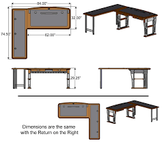 How To Measure L Shaped Desk Modern Computer Desk 2 L Shaped Left Caretta Workspace