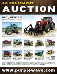 sold august 23 ag equipment auction purplewave inc