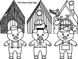 three little pigs and the big bad wolf children story coloring