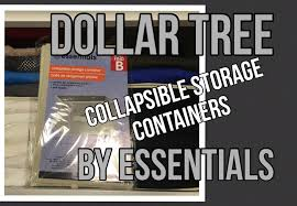 dollar tree essentials brand collapsible storage containers review