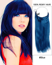 blue hair extensions blue flip in 100 remy hair human hair extensions