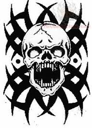skull tribal design