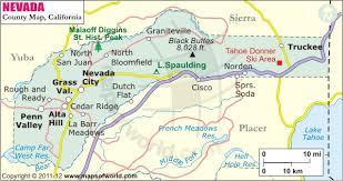 nevada road map nevada county map map of nevada county california