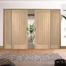 easi slide oak flush easi slide oak room divider door system