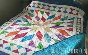big rainbow quilt
