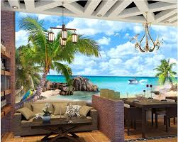 custom photo designs 3d wall murals wallpaper seaview custom photo designs 3d wall murals wallpaper seaview mediterranean beach painting decor picture wallpapers for living room in wallpapers from home