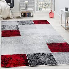 tappeto moderno rosso tappeto di design moderno a quadri effetto marmo mélange grigio
