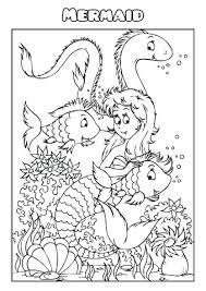mermaid coloring book template create mermaid coloring
