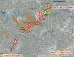 Atlanta Beltline Map South Peachtree Creek Trail To Be Extended U2013 Path Foundation