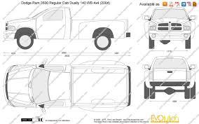 dodge ram 3500 regular cab dually the blueprints com vector drawing dodge ram 3500 regular cab