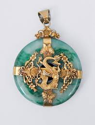 dragon jade necklace pendant images A big jade pendant with dragon mounting china c 1900 bi slice of jpg