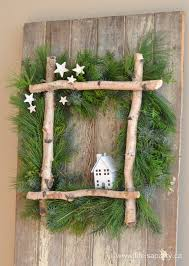 little house christmas wreath full tutorial to make your own
