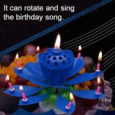 Candle Centerpieces For Birthday Parties by Aliexpress Com Buy Lotus Flower Candle Birthday Party Cake Music