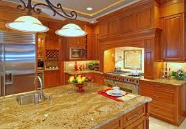 Modern Luxury Kitchen With Granite Countertop Beautiful Granite Countertops Cashmere Gold Create The Cozy
