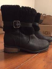 s ugg australia blayre boots ugg australia blayre ii boot 1008220 black leather 100