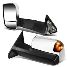 towing mirrors for dodge ram 3500 dodge ram 3500 2010 2017 chrome power heated towing mirrors smoked