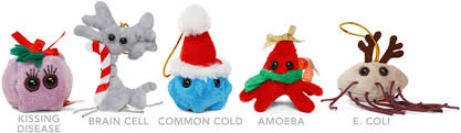 plush microbe ornament set thinkgeek