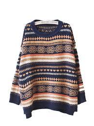 line vintage sweater made