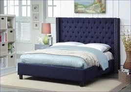 bedroom fabulous dark wood headboard white wire bed frame