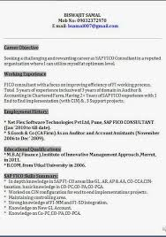 Sap Crm Resume Samples by Terrific Sap Fico Sample Resume 3 Years Experience 89 On Resume