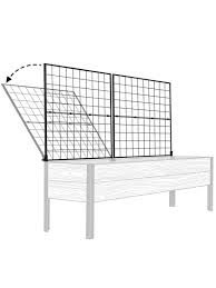 vegetable trellis space maker pivoting trellis 2x8 gardeners com