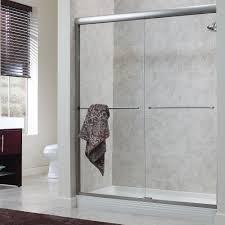 photos hgtv contemporary frameless shower with white stone tile