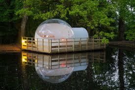 bulle chambre la bulle flottante château de la rousselière 44320 frossay un