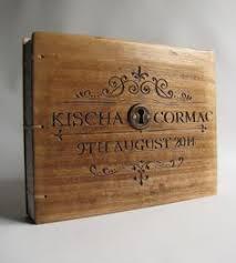 Personalized Photo Album Wedding Photo Album With Custom Hand Engraving Beautiful Old Wood