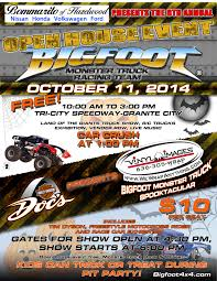 bigfoot monster truck show bigfoot monster truck event tickets u201con sale now u201d tri city speedway