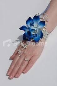 blue orchid corsage modern galaxy blue orchid satin mini wedding wrist corsage