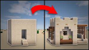 how to remodel a house minecraft how to remodel a desert village small house youtube