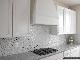 metal backsplash tiles for kitchens white glass and metal kitchen backsplash used for this kitchen