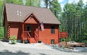 black log cabin sebago lakes region homeaway harrison