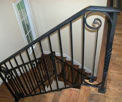 compelling wood stair railing how to basement railing amys office