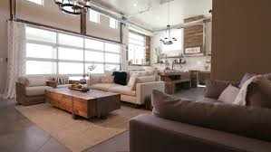 modern living space with patio door closing a lowering shot of a