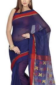 dhakai jamdani saree buy online royal blue zari dhakai cotton silk jamdani saree muslin