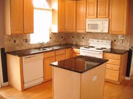 Compact Kitchen Units by Kitchen Colors With Oak Cabinets And Black Countertops Cabin
