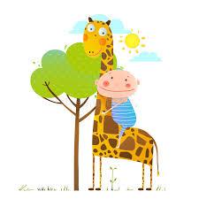 imagenes de amistad jirafas niño pequeño que abraza una amistad infantil de la jirafa