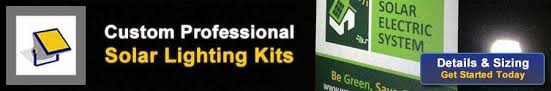 Custom Lighting Solar Sign U0026 Flood Lighting Kits Diy Installation