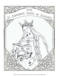 life love u0026 sacred art free coloring page for st margaret